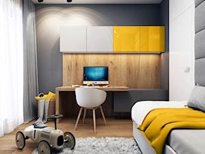 Klimatyczne mieszkanie w Krakowie 3 - Średni biały czarny pokój dziecka dla chłopca dla dziewczynki dla ucznia dla nastolatka, styl nowoczesny - zdjęcie od BEFORECONCEPT