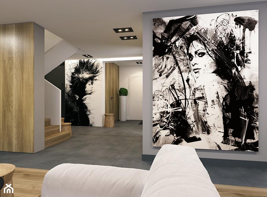 Aranżacje wnętrz - Hol / Przedpokój: Projekt wnętrz domu w Miechowie. - BEFORECONCEPT. Przeglądaj, dodawaj i zapisuj najlepsze zdjęcia, pomysły i inspiracje designerskie. W bazie mamy już prawie milion fotografii!