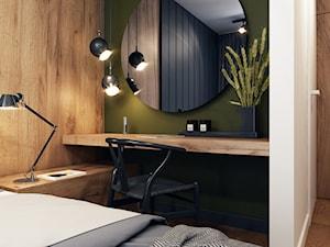 Klimatyczne mieszkanie w Krakowie 3 - Mała biała zielona sypialnia małżeńska, styl nowoczesny - zdjęcie od BEFORECONCEPT