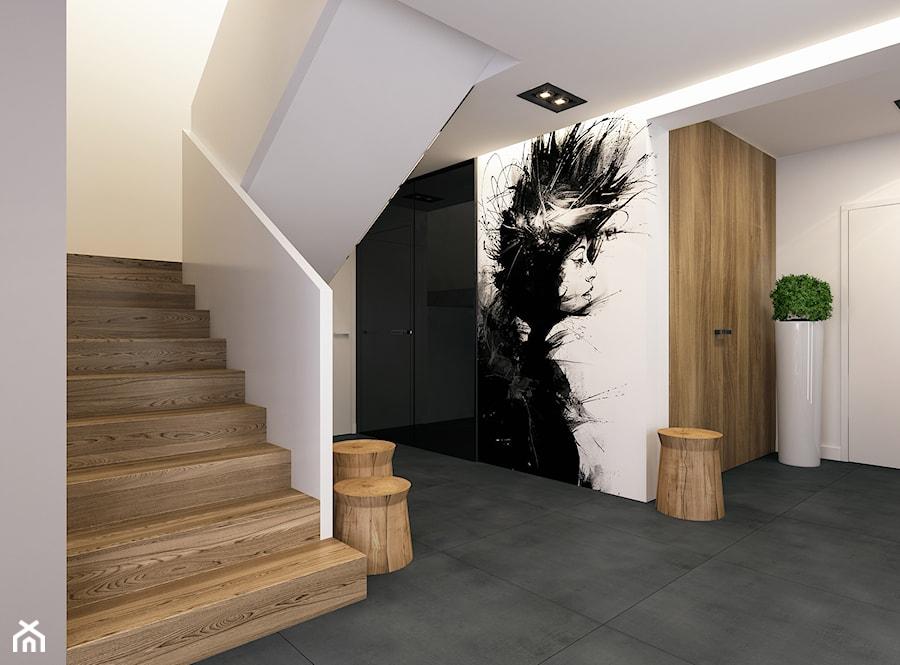 Aranżacje wnętrz - Schody: Projekt wnętrz domu w Miechowie. - BEFORECONCEPT. Przeglądaj, dodawaj i zapisuj najlepsze zdjęcia, pomysły i inspiracje designerskie. W bazie mamy już prawie milion fotografii!