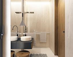 Łazienka kamień + drewno - zdjęcie od BEFORECONCEPT