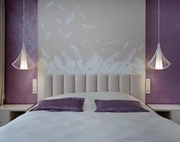 PS - Mała szara fioletowa sypialnia małżeńska - zdjęcie od Tarasenko