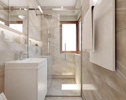 Szeregowiec dla 5-osobowej rodziny - Średnia łazienka z oknem, styl klasyczny - zdjęcie od Boho Studio