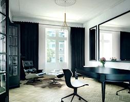 Luksusowy apartament w kamienicy - Średni biały salon, styl klasyczny - zdjęcie od Boho Studio - Homebook