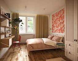 Mieszkanie w stylu kolonialnym - Średnia biała sypialnia małżeńska, styl kolonialny - zdjęcie od Boho Studio - Homebook