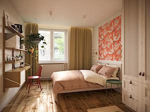 Mieszkanie w stylu kolonialnym - Średnia biała sypialnia małżeńska, styl kolonialny - zdjęcie od Boho Studio