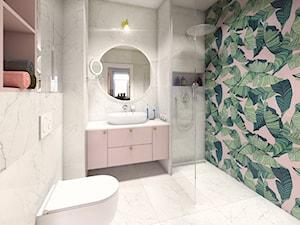 Mieszkanie dla artystów - Mała łazienka w bloku w domu jednorodzinnym bez okna, styl eklektyczny - zdjęcie od Boho Studio