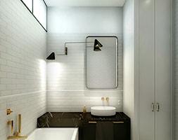 Luksusowy apartament w kamienicy - Średnia szara łazienka w bloku w domu jednorodzinnym bez okna, styl klasyczny - zdjęcie od Boho Studio - Homebook