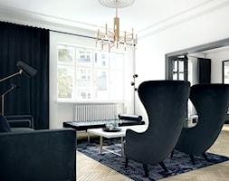 Luksusowy apartament w kamienicy - Średni biały salon, styl nowojorski - zdjęcie od Boho Studio - Homebook