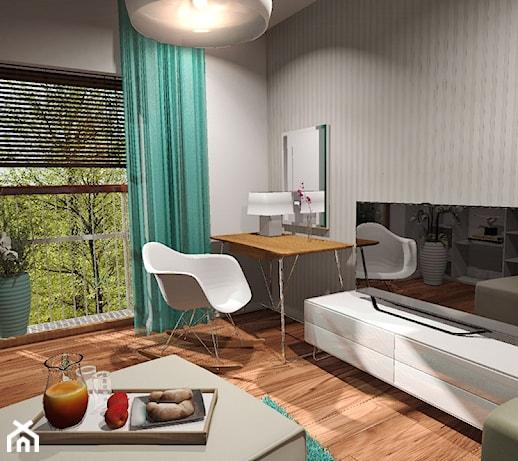 5c26ff2481cbb6 Wielofunkcyjny pokój / sypialnia (2013) - Sypialnia, styl nowoczesny -  zdjęcie od Damian