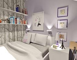 Pokój nastolatki (2013) - Średni szary pastelowy fioletowy pokój dziecka dla dziewczynki dla nastolatka, styl nowoczesny - zdjęcie od Damian Widowski HOME / DESIGN LOVE BLOG