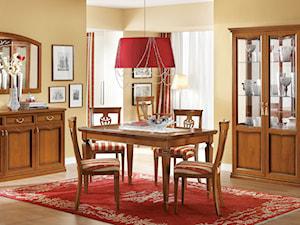 Aranżacje - Średnia zamknięta żółta jadalnia jako osobne pomieszczenie - zdjęcie od RAD-POL