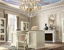 Styl klasyczny - Duże szare biuro pracownia domowe kącik do pracy, styl klasyczny - zdjęcie od RAD-POL