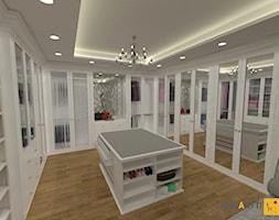 Aranżacja garderoby 27m2 w stylu glamour w domu jednorodzinnym na Mazurach - zdjęcie od Merantti design Anna Koronowska