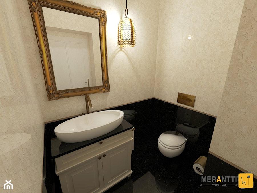 Aranżacja WC 2,5m2 w stylu ModernClassic domu jednorodzinnym na Mazurach - zdjęcie od Merantti design Anna Koronowska