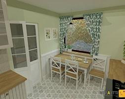 Aranżacja kuchni w stylu rustykalnym 15m2 w domu jednorodzinnym na Mazurach - zdjęcie od Merantti design Anna Koronowska