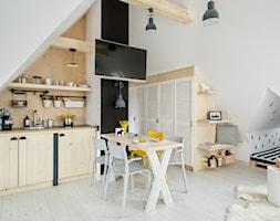 Apartament Zakopiańskie Tarasy 19, Zakopane - Mała otwarta kuchnia jednorzędowa w aneksie, styl skandynawski - zdjęcie od www.tatrytop.pl