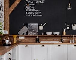 Apartament Granitica Platinium 8, Zakopane - Mała czarna kuchnia w kształcie litery l, styl skandynawski - zdjęcie od www.tatrytop.pl