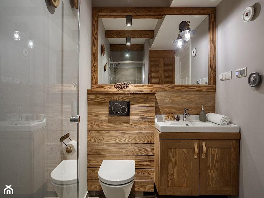 Ukochany Apartament Granitica Platinium 8, Zakopane - Mała szara łazienka w  #WV-97