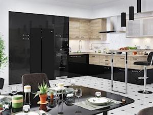 Kuchnie - Duża otwarta biała kuchnia w kształcie litery l w aneksie, styl nowoczesny - zdjęcie od Beko