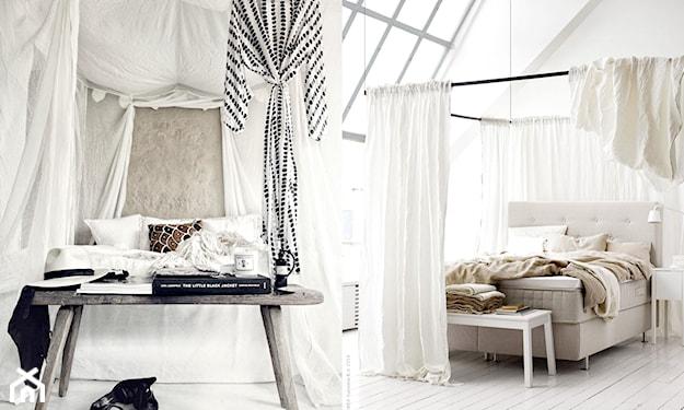 łóżko sypialniane z baldachimem