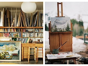 Artystyczny pokój - miesce przepełnione duszą artysty.