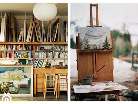 Aranżacje wnętrz - Biuro: Artystyczny pokój - miesce przepełnione duszą artysty. - cleo-inspire. Przeglądaj, dodawaj i zapisuj najlepsze zdjęcia, pomysły i inspiracje designerskie. W bazie mamy już prawie milion fotografii!