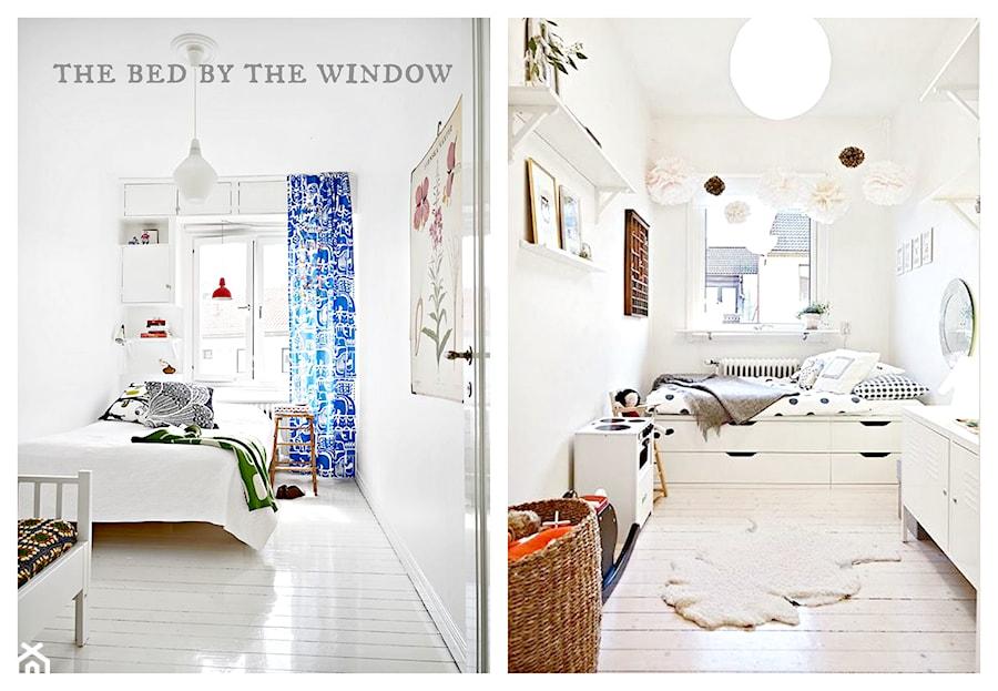 łóżko Przy Oknie Sypialnia Styl Skandynawski Zdjęcie
