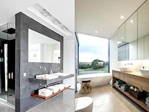 Łazienka z podwójną umywalką.