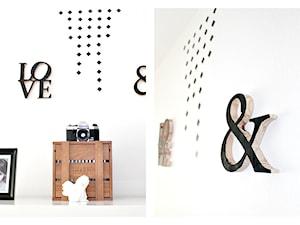Geometryczn dekoraja naścienna - projekt DIY