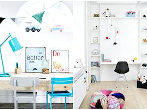 Małe biurko do pokoju dziecka.