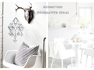 Geometryczne dekoracje w mieszkaniu.