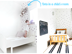 Kropki w dziecięcym pokoju - zrób to sam!