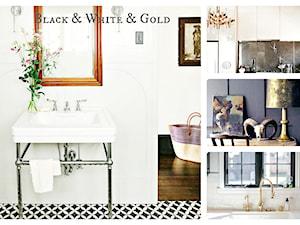 Bial, czerń i złoto - projektowanie i aranżowanie wnętrz