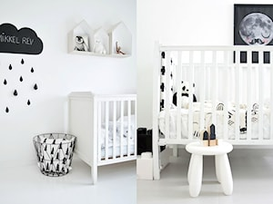 Miejsce na łóżeczko dla bobasa w pokoju dziecięcym w stylu skandynawskim. - zdjęcie od cleo-inspire