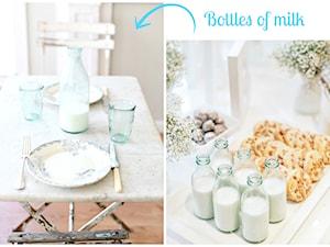 Butelki od mleka - współczesny design.