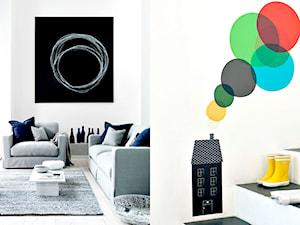 Okrąg na ścianie. Jak ciekawie pomalować salon?