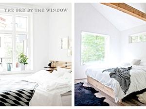 Łóżko przy oknie.