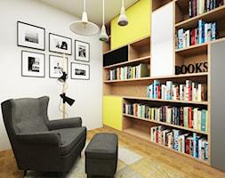 dom z kolorowym akcentem - Średnie białe biuro w pokoju, styl nowoczesny - zdjęcie od RedCubeDesign projektowanie wnętrz