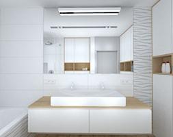 wszystkie odcienie grafitowej szarości - Mała biała łazienka w bloku w domu jednorodzinnym bez okna, styl nowoczesny - zdjęcie od RedCubeDesign projektowanie wnętrz