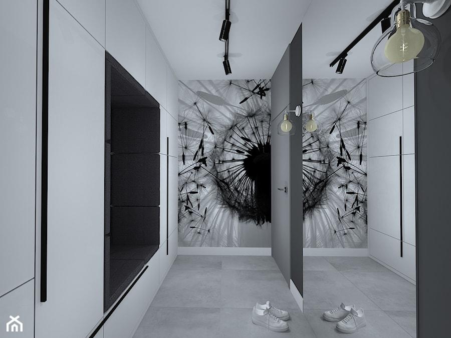 wszystkie odcienie grafitowej szarości - Hol / przedpokój, styl nowoczesny - zdjęcie od RedCubeDesign projektowanie wnętrz