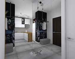mieszkanie w loftowym klimacie - Średni biały hol / przedpokój, styl industrialny - zdjęcie od RedCubeDesign projektowanie wnętrz