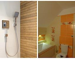 metamorfoza stylów - Mała biała łazienka na poddaszu w bloku w domu jednorodzinnym bez okna, styl nowoczesny - zdjęcie od RedCubeDesign projektowanie wnętrz