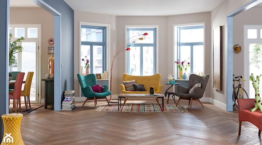 9design elegancja kolor eklektyzm czyli salon wed ug kare design zdj cie od 9design - Kare design wohnzimmer ...