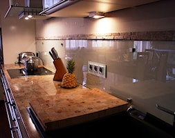Szklana Osłona ściany W Kuchni Zdjęcie Od Terjot Szklane