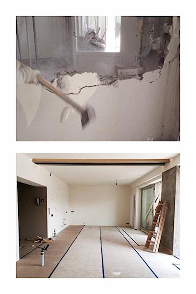 wyburzanie ściany młotem