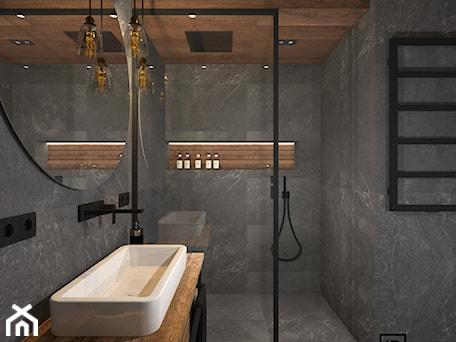 Aranżacje wnętrz - Łazienka: Łazienka 4 - Mała łazienka w bloku w domu jednorodzinnym bez okna, styl industrialny - Anna Romik Architektura Wnętrz. Przeglądaj, dodawaj i zapisuj najlepsze zdjęcia, pomysły i inspiracje designerskie. W bazie mamy już prawie milion fotografii!