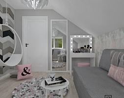 Pokój dziecięcy 4 - Średni szary pokój dziecka dla dziewczynki dla ucznia dla nastolatka, styl nowoczesny - zdjęcie od Anna Romik Architektura Wnętrz