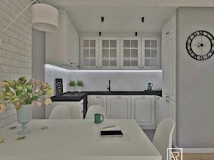 Salon z aneksem kuchennym 25 m2