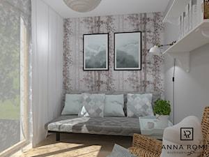Pokój - Mały biały beżowy pokój dziecka dla nastolatka, styl skandynawski - zdjęcie od Anna Romik Architektura Wnętrz